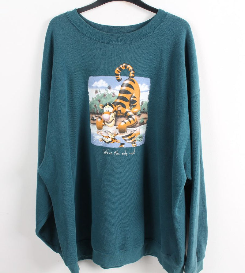 VINTAGE TIGGER CARTOON SWEATER - SIZE 2XL