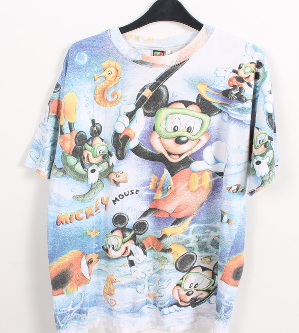 VINTAGE CARTOON T SHIRTS - MICKEY MOUSE - SIZE L