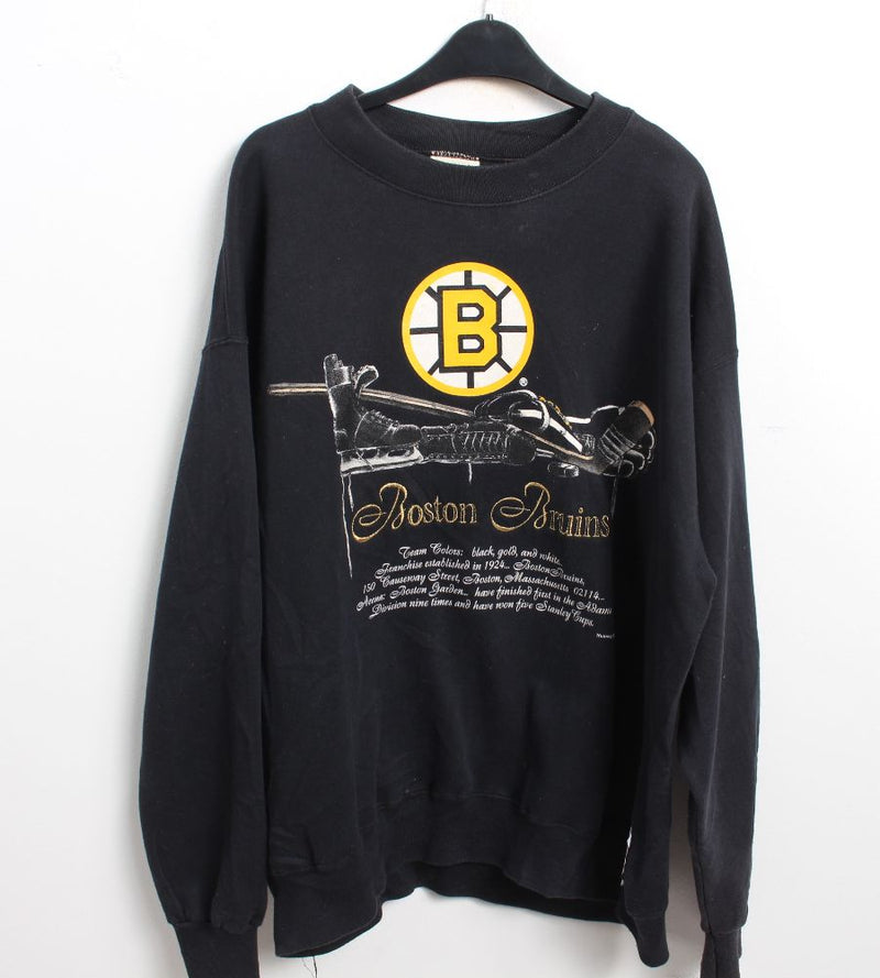 VINTAGE BOSTON BRUINS SWEATER - SIZE L