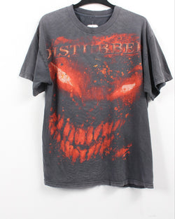 VINTAGE BAND T SHIRT- SIZE L- DISTURBED