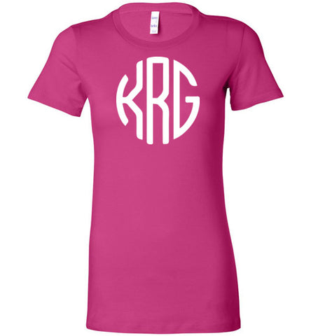 kegrider gaming Monogram Ladie's Tee