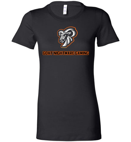 Goat Nightmare Gaming Logo Ladie's Tee