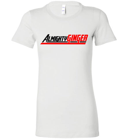 Almighty Ginger Ladies Premium Logo Tee