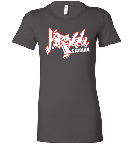 Kreyah Gaming White Graffiti Ladies Tee