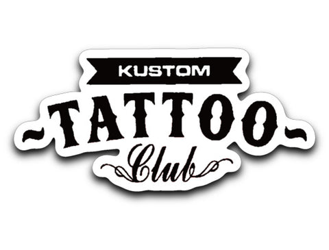 KUSTOM TATTOO CLUB Logo Sticker