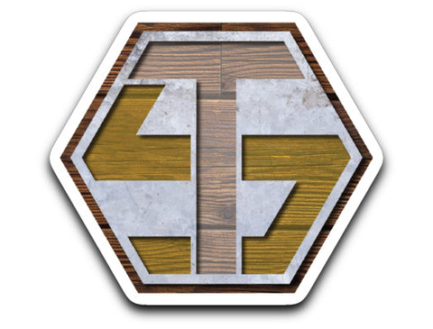 Tater And Smitch Woodgrain Sticker