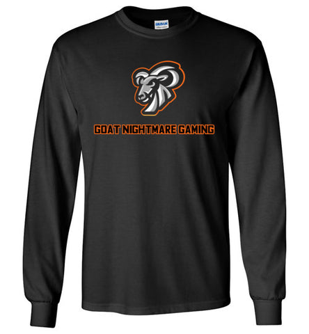 Goat Nightmare Gaming Logo Long Sleeve Tee
