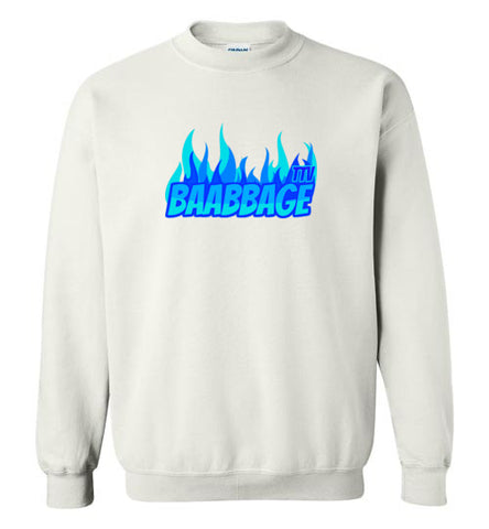 Baabbage Blue Flame Crewneck