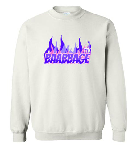 Baabbage Purple Flame Crewneck