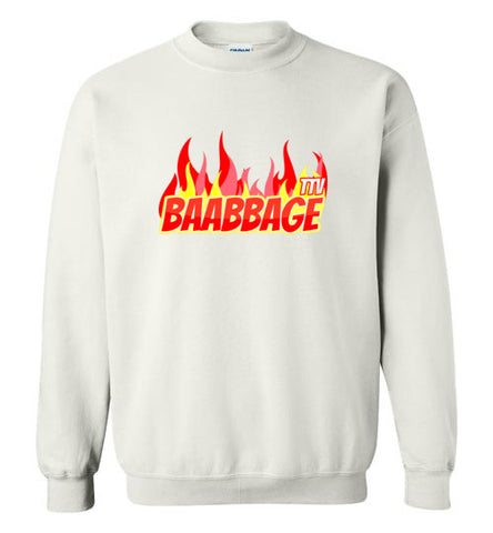 Baabbage Red Flame Crewneck