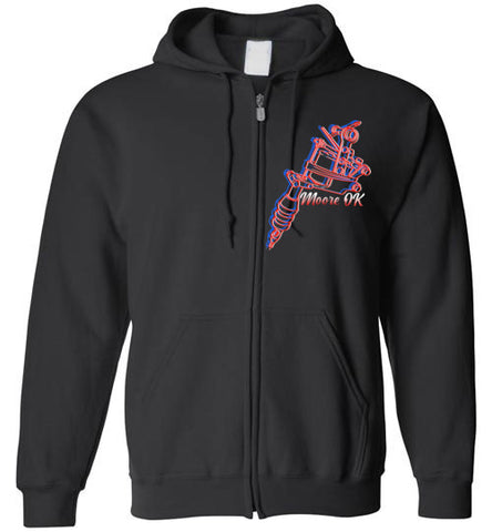 KUSTOM TATTOO CLUB Zip-Up Logo Hoodie
