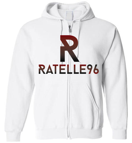 Dark Ratelle96 Logo Zip-Up Hoodie