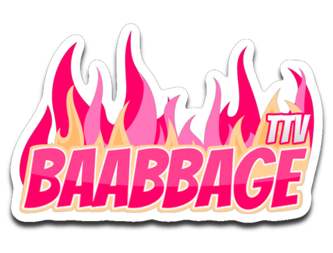 Baabbage Pink Flame Sticker
