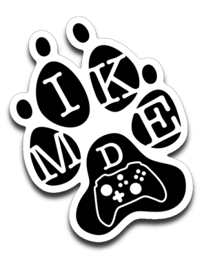 Mike D Gaming Black Logo Sticker