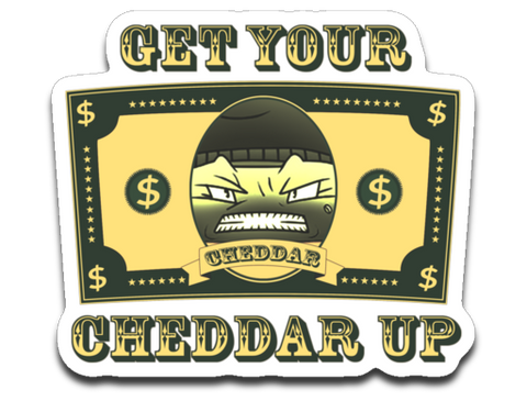 CheddarYikes Get Your Cheddar Sticker
