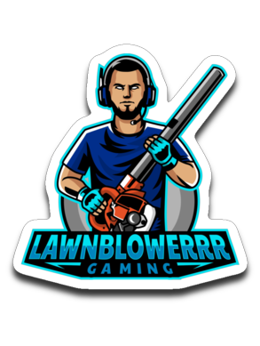 Lawnblowerrr Gaming Sticker