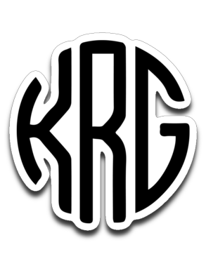 kegrider gaming Monogram Sticker