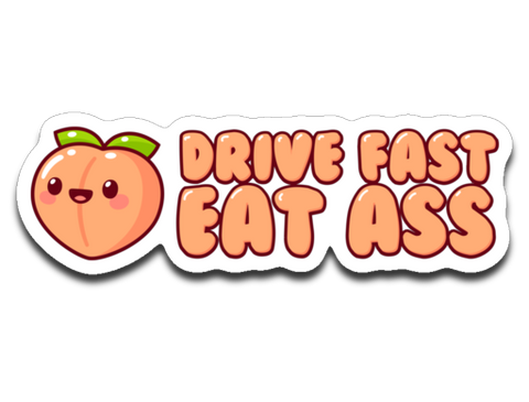 Gina Darling Drive Fast Sticker