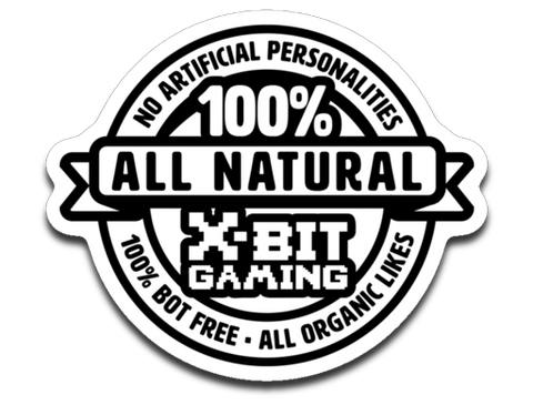 X-Bit Gaming 100% Natural Sticker