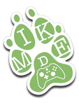 Mike D Gaming Green Logo Sticker