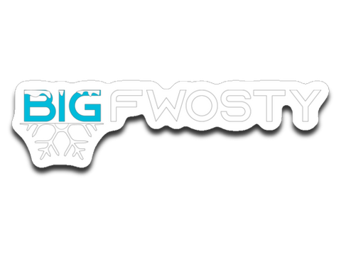 Big Fwosty Logo Sticker