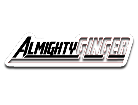 Almighty Ginger Sticker