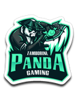 Tamborine Panda Gaming Logo Sticker