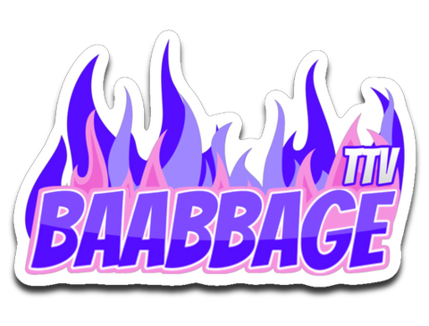 Baabbage Purple Flame Sticker