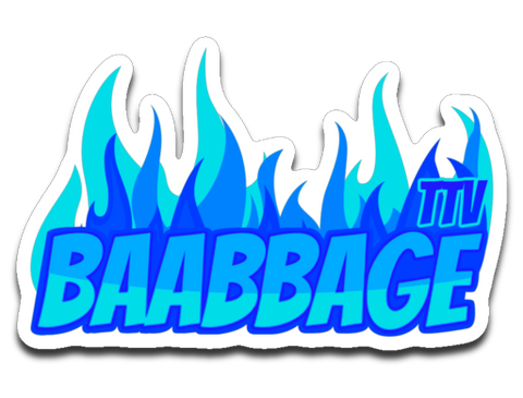 Baabbage Blue Flame Sticker