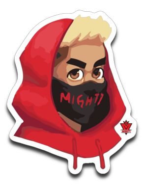 Mighty Face Sticker