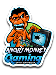 Angry Monkey Gaming Logo Sticker