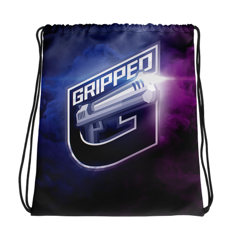 GrippeD Smoke Drawstring bag