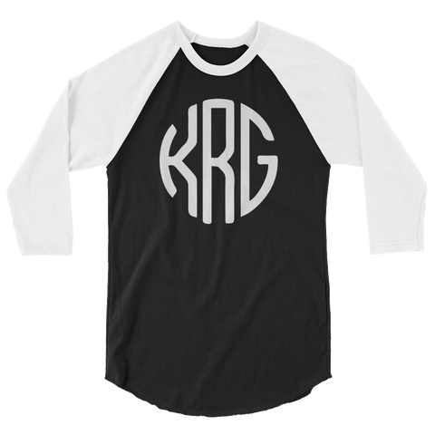 kegrider gaming Monogram Baseball Tee
