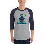 Lawnblowerrr Gaming Baseball Tee