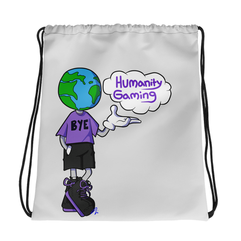 Bye Humanity Drawstring bag