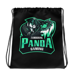 Tamborine Panda Gaming Drawstring Bag