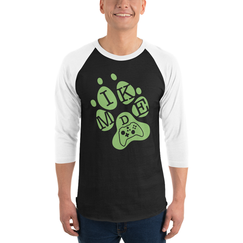 Mike D Gaming Green Logo Baseball Tee
