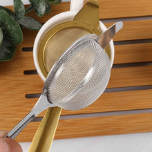 Load image into Gallery viewer, Rustic Mindful  Reusable Steel Tea Strainer