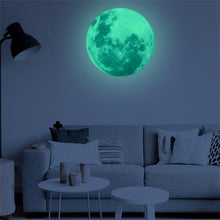 Load image into Gallery viewer, Mindful Moon Luminous Vinyl Wall Adornment