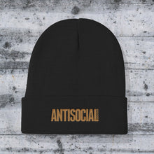 Load image into Gallery viewer, AntiSocial Cuffed Embroidered Unisex Beanie