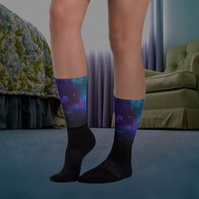 Load image into Gallery viewer, Cushioned Deep Space Ribbed Napping Socks