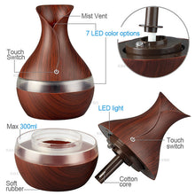 Load image into Gallery viewer, Wood Grain Chromatherapy Essential Oil Diffuser