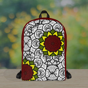 Sunflower Mandala Touch of Color Premium Backpack