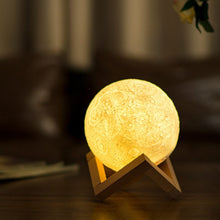 Load image into Gallery viewer, Stunning 3D Printed Light Therapy Moon Lamp