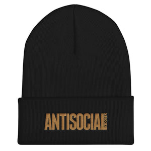 AntiSocial Cuffed Embroidered Unisex Beanie