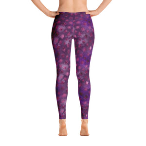 Women's Hand Sewn Whimsical Purple Lounge Leggings
