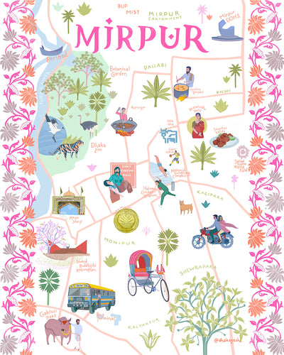 Illustrated Map Of Mirpur