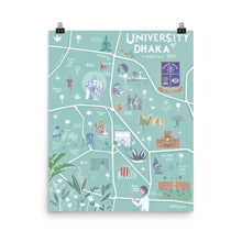 Load image into Gallery viewer, Illustrated Map of Dhaka University