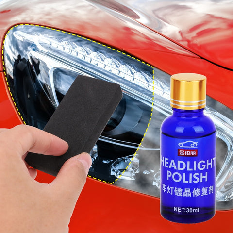 car headlight lens cleaner