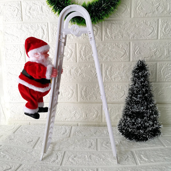 santa claus climbing ladder decoration